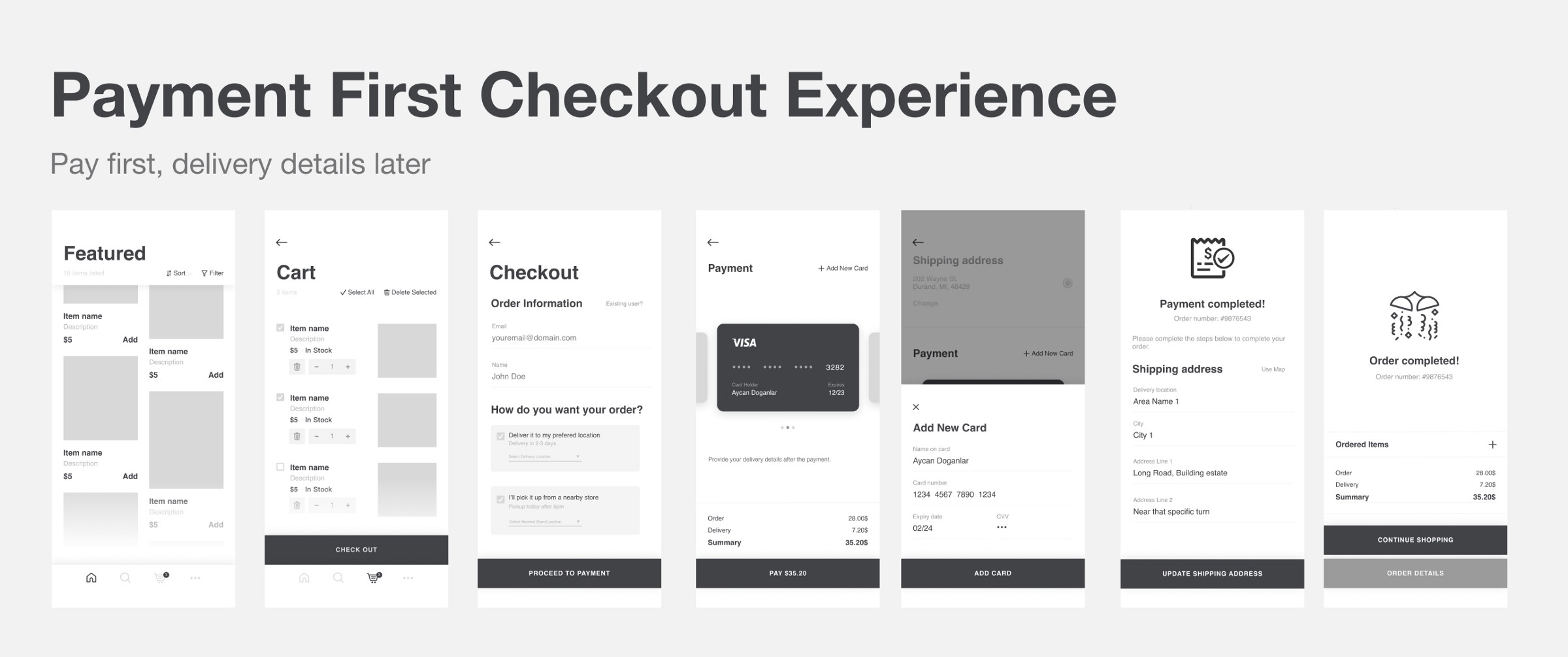 Payment-first checkout experience — a UX exploration 21
